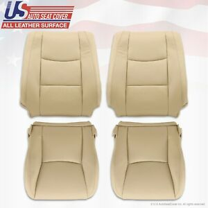 DRIVER PASSENGER SET Leather Seat Cover TAN Fits 2003 to 2009 Lexus GX470