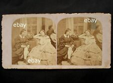 Stereoview 1850-1860 stereo card nude woman old 3D photo naked stereograph 4