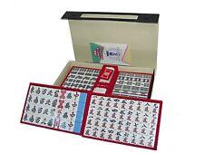 JAPANESE Mahjong Mahjongg Pai SET Blue with Case from JAPAN
