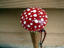 Artisan made AMINITA MUSCARIA POISON MUSHROOM CANE/walking stick~hand-painted