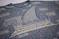Jersey de punto suéter Sweater Knit sudadera vintage galere boat Hellas XL-XXL