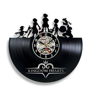 Kingdom Hearts Anime_Exclusive wall clock made of vinyl record_GIFT