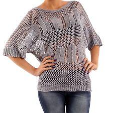 3/4 Arm Damen-Shirts aus Baumwollmischung ohne Muster