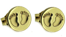 Mädchen und Frauen Baby Füße Ohrringe Ohrstecker Fuß Abdruck Echt Gold 333