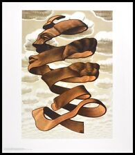 MC Escher Hülle Poster Kunstdruck mit Alu Rahmen in schwarz 65x55cm
