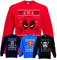CHRISTMAS JUMPERS MOVIE THEMED UNISEX ADULTS STARWARS MARVEL XMAS SWEATERS