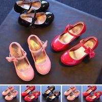 New Kids Princess Toddler Dress Shoes Girls High-heeled Princess shoes Size 9-13