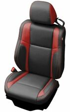 2015-19 Dodge Challenger Katzkin Black and Red Leather Seat Covers Kit SXT R/T
