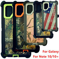 For Samsung Galaxy Note 10/10 Plus Defender Camo Case W/Screen Clip Fit Otterbox