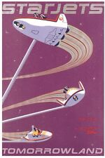 """Disney Parks Attraction Poster 12""""x18"""" Unframed - Starjets Tommorowland"""