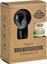 Car Scented Electric Diffuser with HEAD AID Pure Essential Oil Blend 10ml