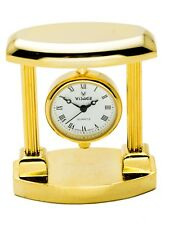 VISAGE: GOLD TONE HANGING CLOCK STYLE  COLLECTABLE ANALOG QUARTZ MINI-CLOCK