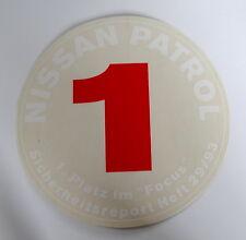 Aufkleber NISSAN PATROL 4x4 1993 1. Platz Focus Sicherheitsreport Sticker