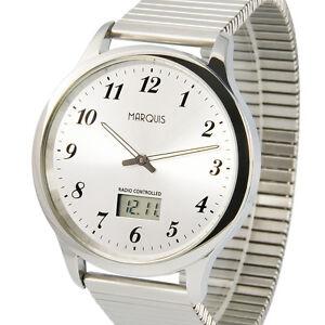 Herren Funkuhr (deutsches Funkwerk) Zugband Edelstahl Armbanduhr 964.6020