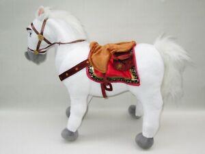 GENUINE DISNEY STORE RAPUNZEL TANGLED MAXIMUS WHITE HORSE LARGE PLUSH SOFT TOY