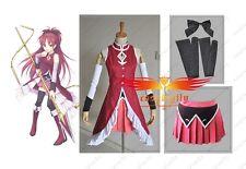 Puella Magi Madoka Magica Kyoko Sakura Cosplay Costume Custom Made Any Size