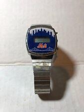 Vintage Mets Baseball Watch Stainless Steel Back New York Metal Baseball