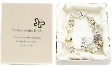 Amore Silver Gold Bead Charm Bracelet Mother Of The Bride