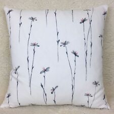 "John Lewis ""Claremont"" Fabric Cushion Cover 16""x16"" Meadow flower Double Sided"