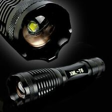 700LM CREE XM-L T6 LED Flashlight Focus Torch Light Lamp Zoom 18650 Charger