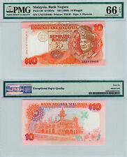 Malaysia $10 P#29 (1989) PMG 66 EPQ