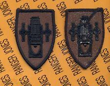 US Army Field Artillery School OD Green & Black uniform patch m/e