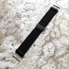 Black Milanese Metal Mesh Band Strap for Garmin Venu 2 Smartwatches -B22