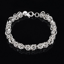 Spherical Knot Bangle Chain Bracelet 925 Silver Plated Fashion Jewelry Unisex