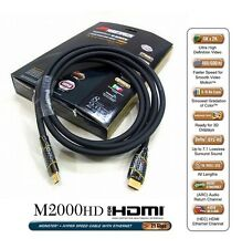 NEW Monster 8ft M2000 HDMI 1.4 Cable 3D HDTV 1080p 4K x 2K Hyper Speed HD-8 UK