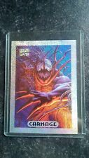1994 Marvel Masterpieces Silver Holofoil Chase Card #2 Carnage + Card Protector