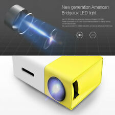 YG300 Mini HD LED Projector Home Theater Cinema 1080P&USB HD+MI AV For Laptop PC