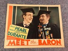 "MEET THE BARON 1933 ORIGINAL THEATER ISSUED LOBBY CARD 11""x14"" (F/VF) VERY RARE"