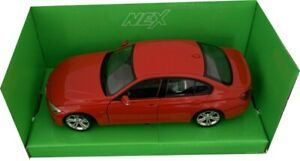 BMW 335i saloon, 2012 in red 1:24 scale diecat model from Welly