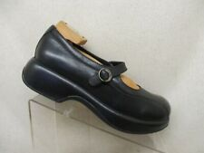 Dansko Black Leather Mary Jane Clog Ankle Fashion Boots Booties Size 40 EUR GUC