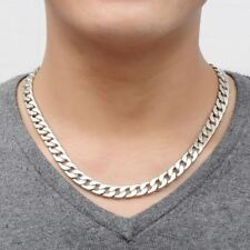 Cool Men Necklace Alloy Silver Jewelry Vintage Link Chain Genuine Solid alloy Th