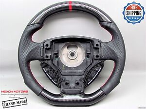 Aston Martin DB9 DBS V8 Vantage 8mm Red Ring Perforated Carbon Steering Wheel V1