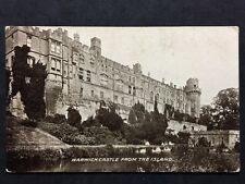 RP Vintage Postcard Warks #5  - Warwick Castle, From Island - 1911