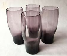 Purple Tumblers   Set of 4 Vintage Cocktail Glasses   Hiball Glasses   Weighted