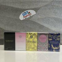 VERSACE Miniatures collection 5 PCS MINI SET Womens Perfume 5 x 0.17 oz Set NIB