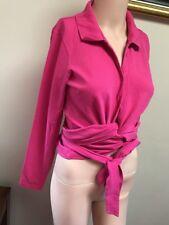 ❤️❤️❤️ Gant Pink Quality Wrap Top Shirt Blouse Fits Size 10 12 ❤️❤️❤️