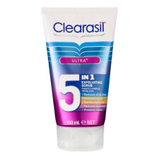 2 X Clearasil Ultra 5 in 1 Exfoliating Scrub 150ml Each