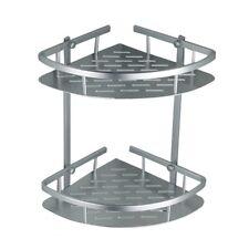 Corner Shampoo Rack Aluminium Bathroom Storage Rack 2 Tier