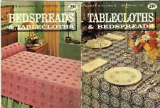 TABLECLOTH and BEDSPREAD PATTERNS Vintage LACE Clarks 137 Booklet 1963