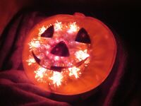 Halloween Lighted Window Pumpkin JOL Light Multi-Function (Z728)