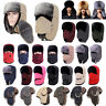 Men Women Trapper Bomber Winter Outdoor Trooper Aviator Cap Fur Ear flap Ski Hat