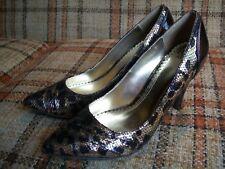 """NWOT - BKE Womens Size 10 Leopard Snakeskin Print Pointy Toe Heels (4"""")"""