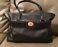 Kate Spade Hampton Road Theresa Large Leather Satchel Black Pre Owned