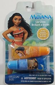Disney's Moana Lip Gloss Fruity Flavor 5.2 ml Each Orange Blueberry Chap Stick
