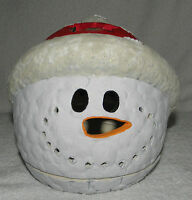 Ceramic Snowman Tealight Votive Candle Holder Winter Christmas Decor Figurine