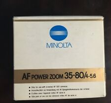 Minolta AF Power Zoom 35-80mm~F4-5.6 Lens Brand New With Box For Canon FD Mount
